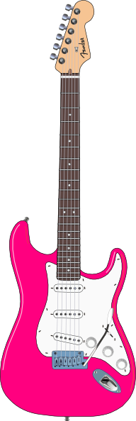 Pink guitar png. Electric images
