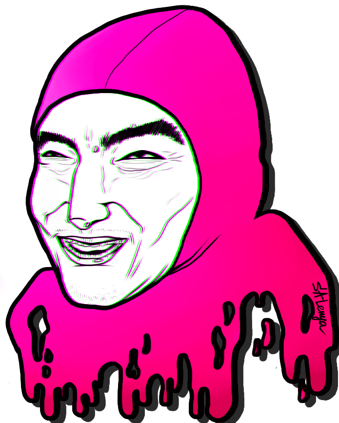 Pink guy png. By s a lenya