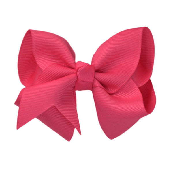 Pink hair bow png. Inch solid color