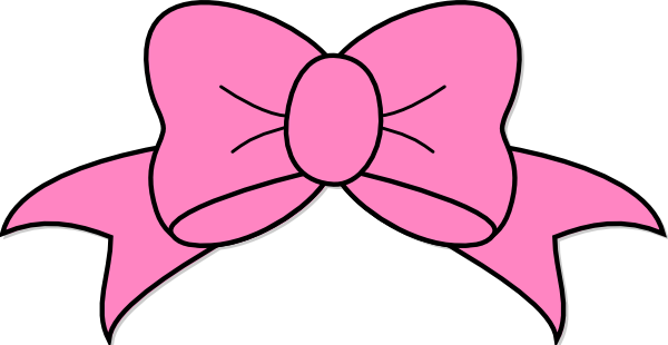 A34 clip set. Pink hair bow art