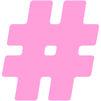 pink hashtag png