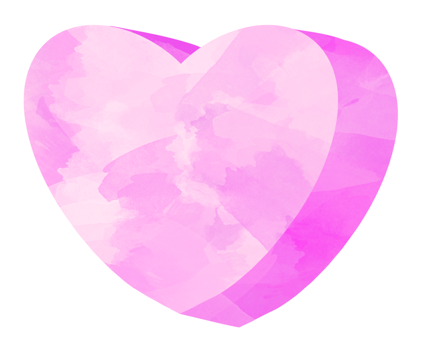 Pink heart candy clip art. Watercolor hearts