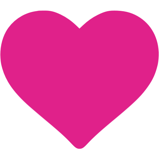 Pink heart icon png. Image