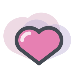Pink heart icon png. Vector image