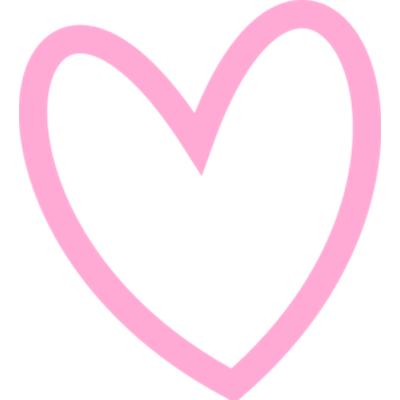 Pink heart outline png. Transparent stickpng