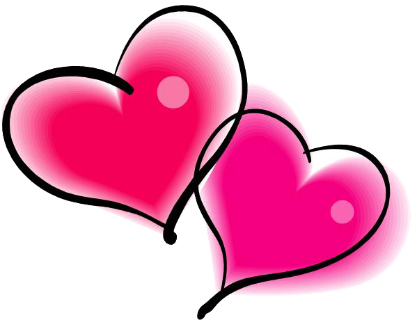 Double heart png. Pink