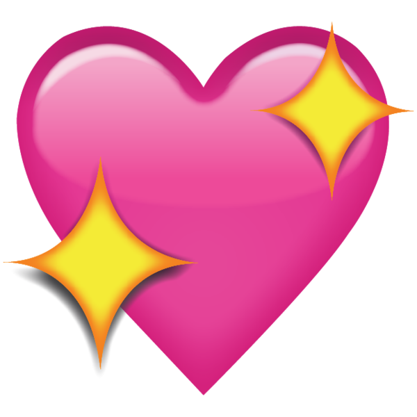 Pink hearts emoji png. Sparkling heart add a