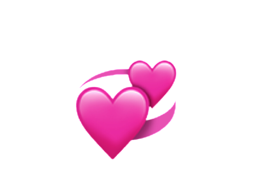Pink hearts emoji png. Ios iphone heart spin