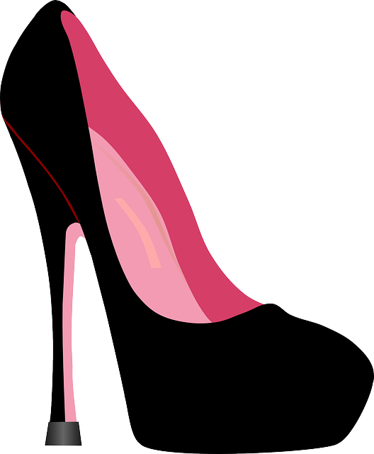 Pink heel png. Chunky hot stretch