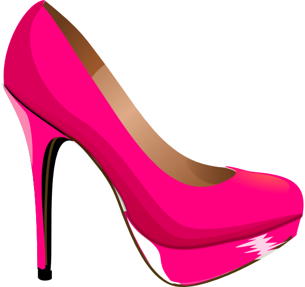 Kids pink heels art. Clip shoes women's banner library library