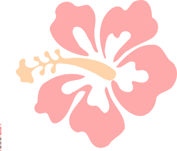 Pink hibiscus flower png. Clip art at clker