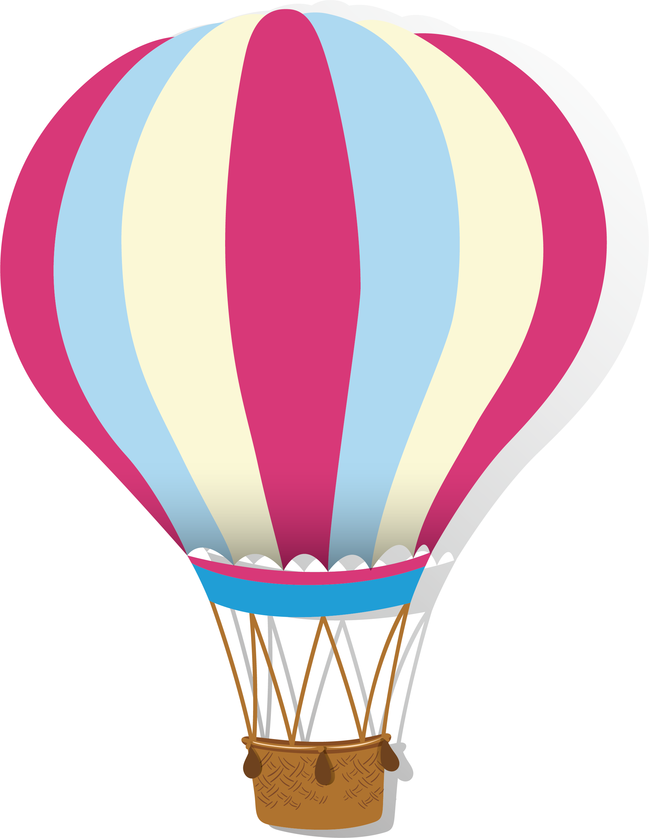 Pink hot air balloon png. Airplane stripe transprent free