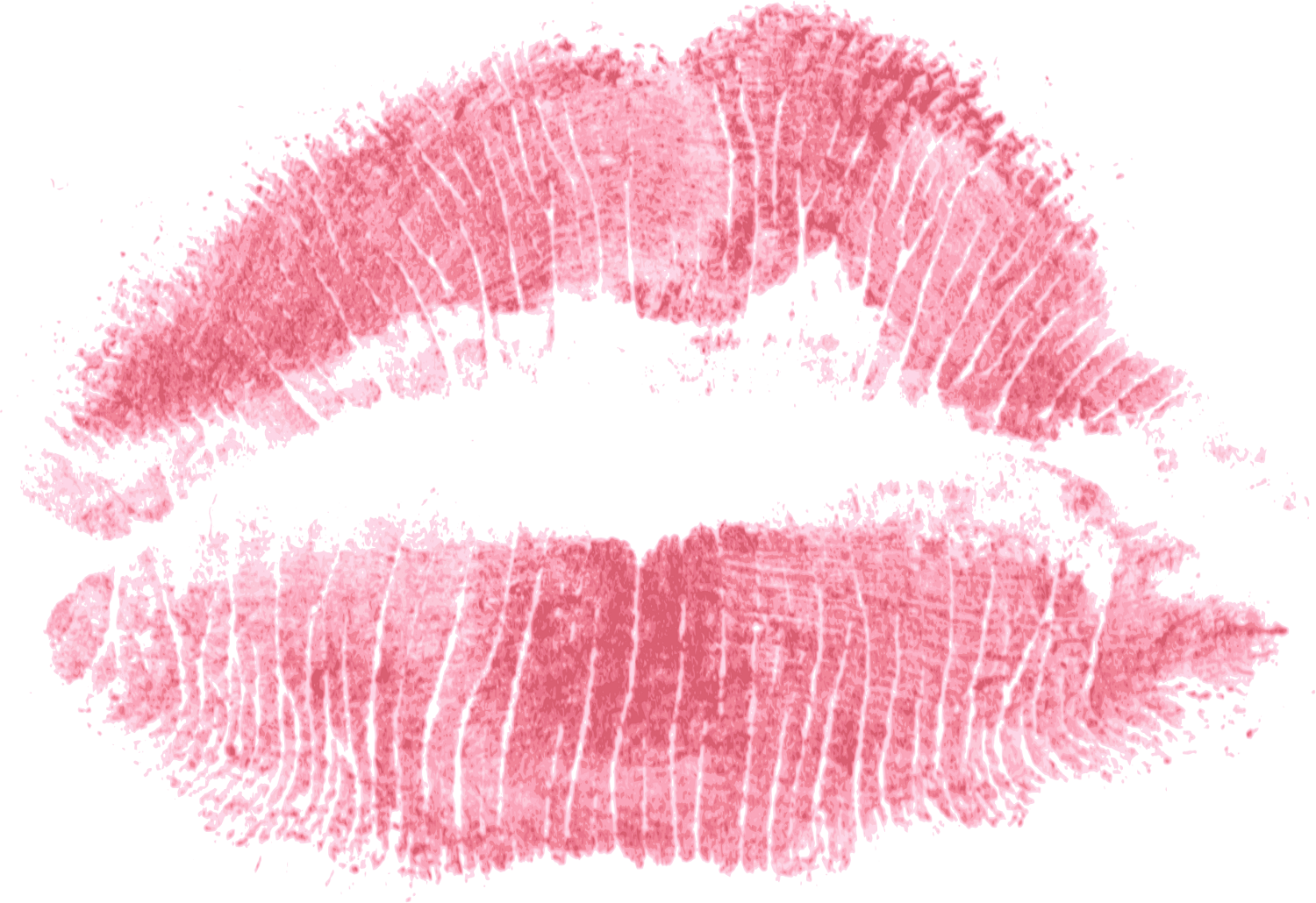 Lipstick print png. Red of kiss