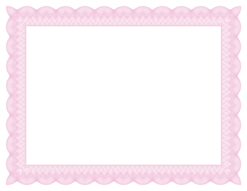 Pink lace border png. Formal certificate borders