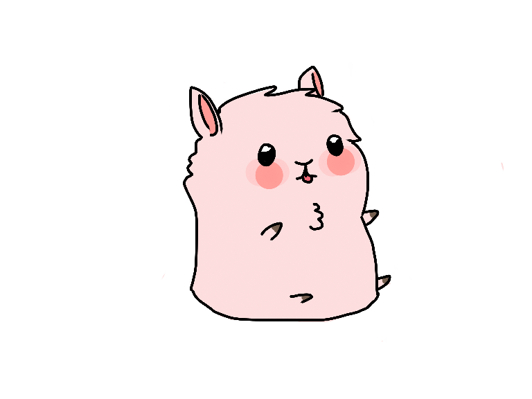 Pink llama png. Collection of fluffy