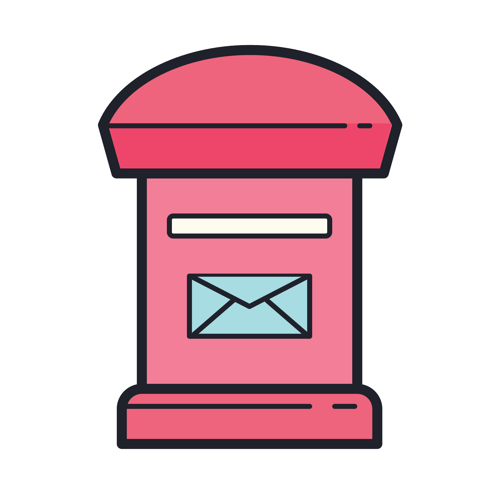 Mailbox icon free download. Postit vector pink royalty free