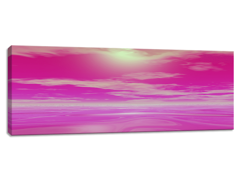 Pink mist png. Sunset canvas print picture