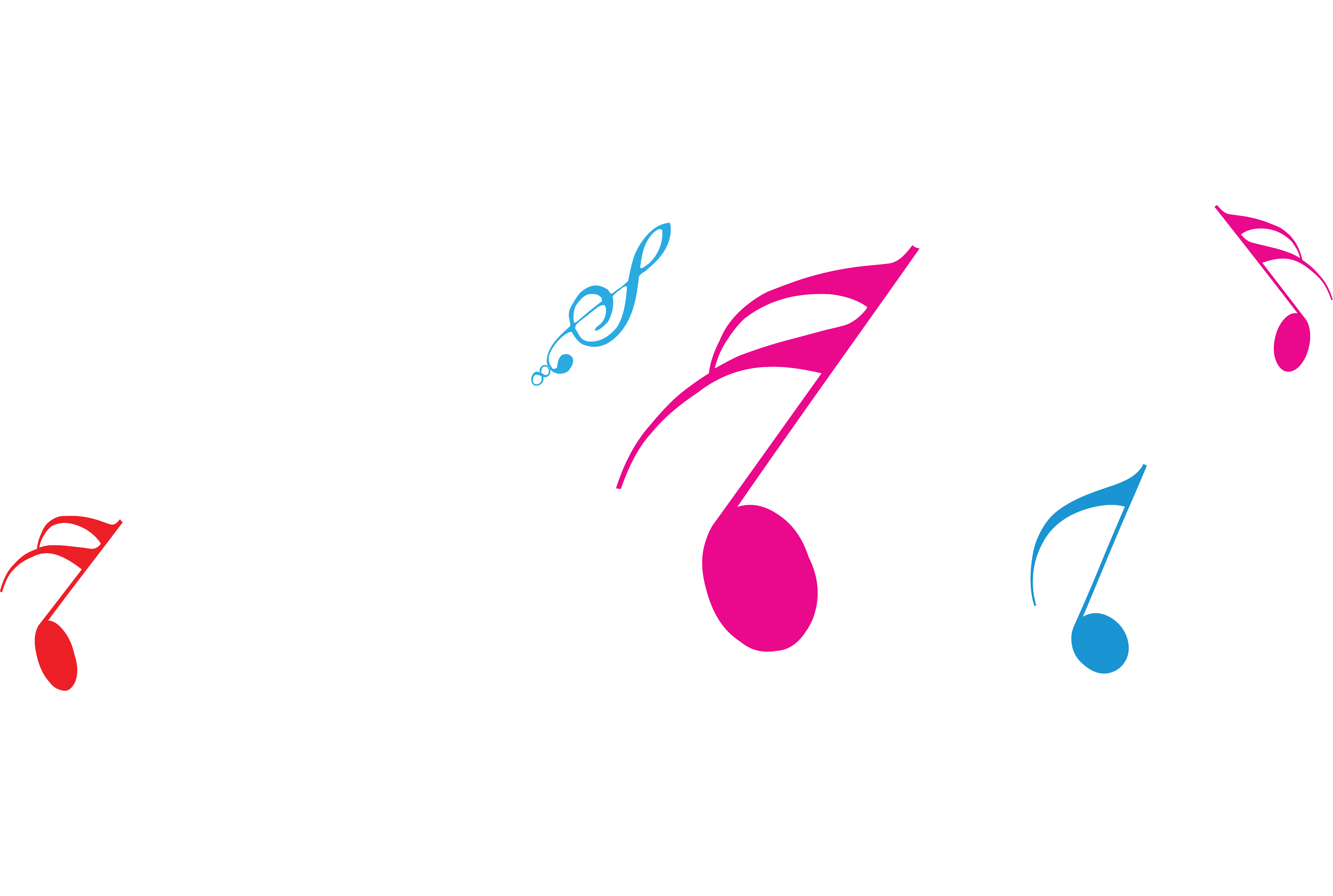 Pink music notes png. Musical note melody sheet