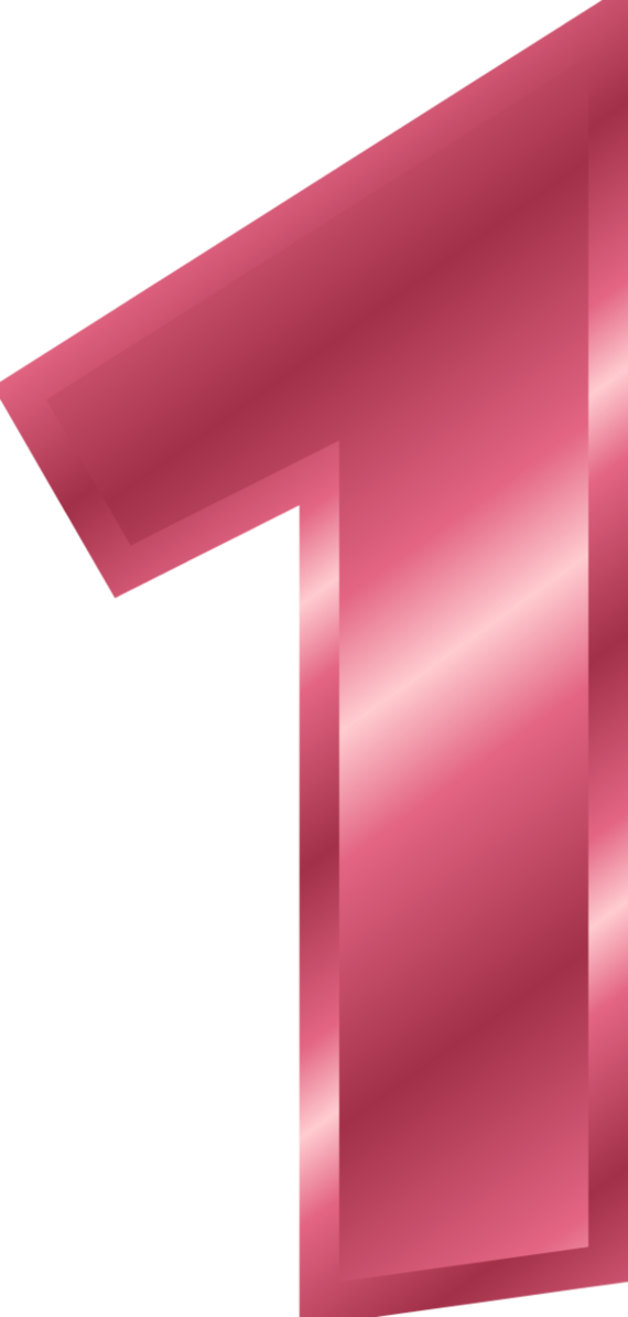 Pink number 1 png. And purple one clipart