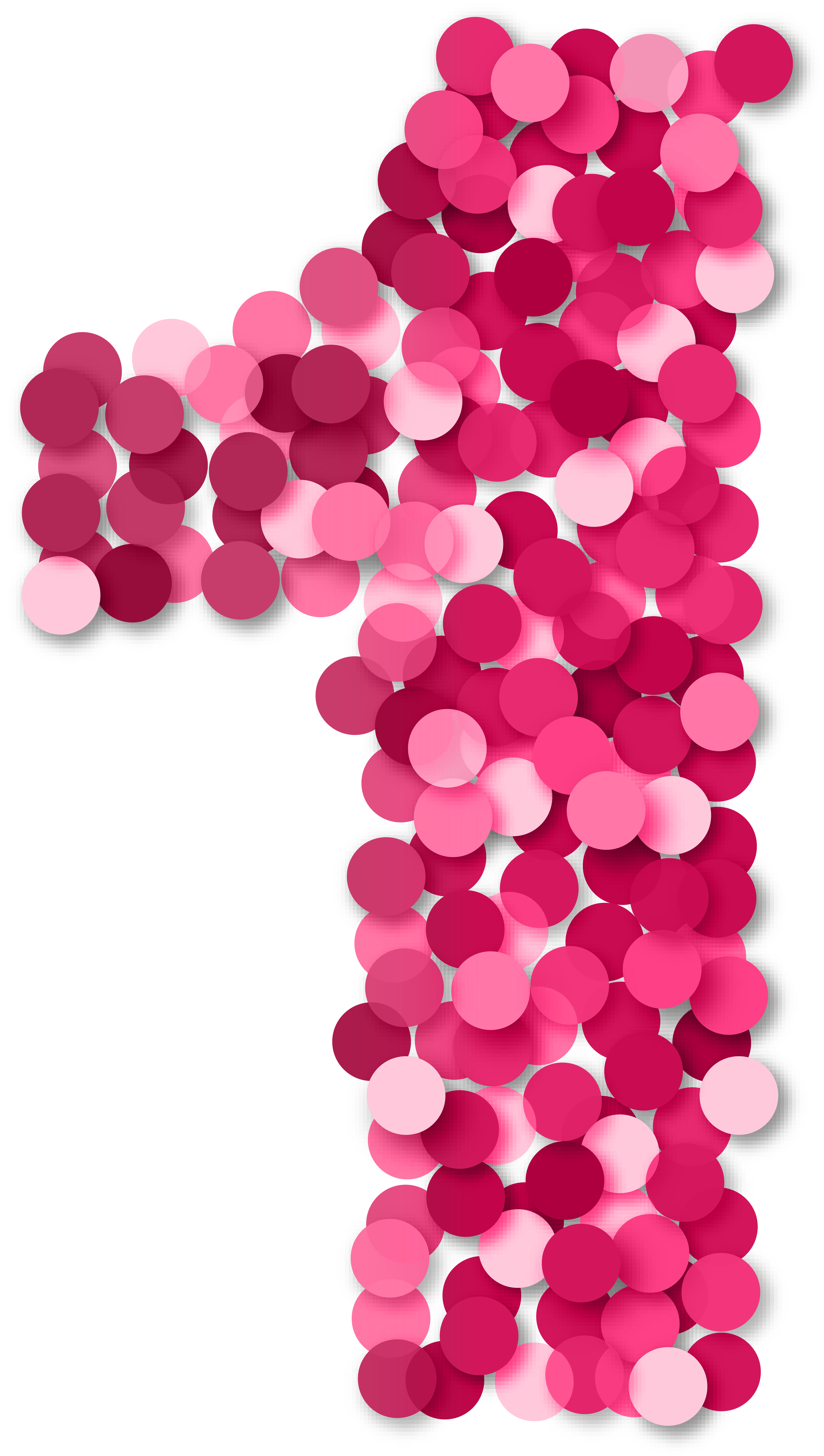 Pink number 1 png. One clip art gallery