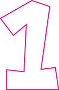 Pink number 1 png. One clip art at