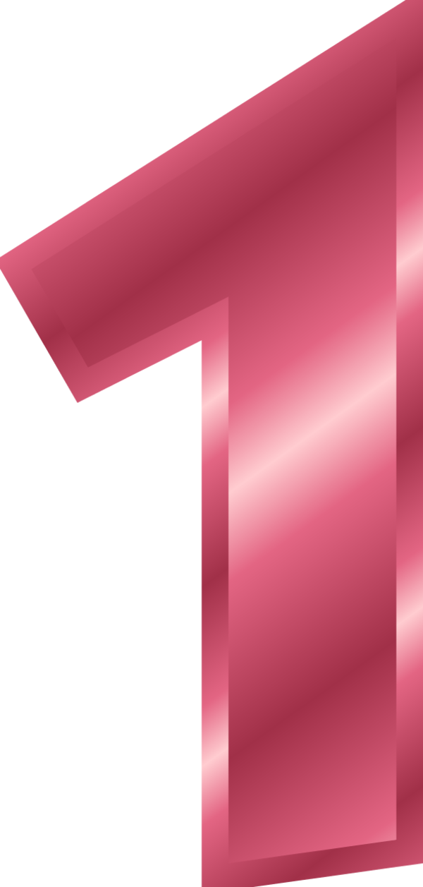 Pink number 1 png. Collection of clipart