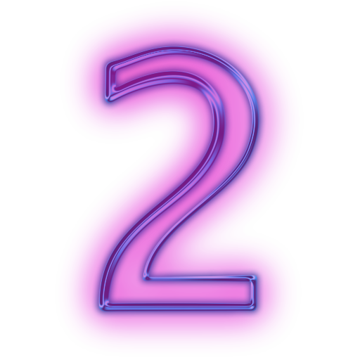Pink number 2 png. For windows two icons