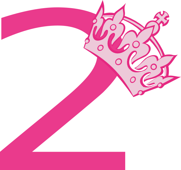 Pink number 2 png. Collection of clipart