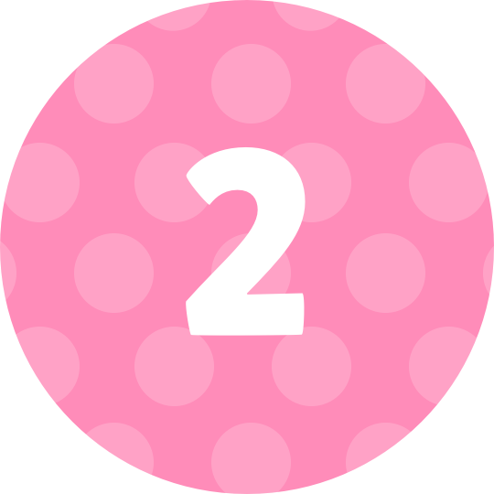 Pink number 2 png. Gifts sharesies
