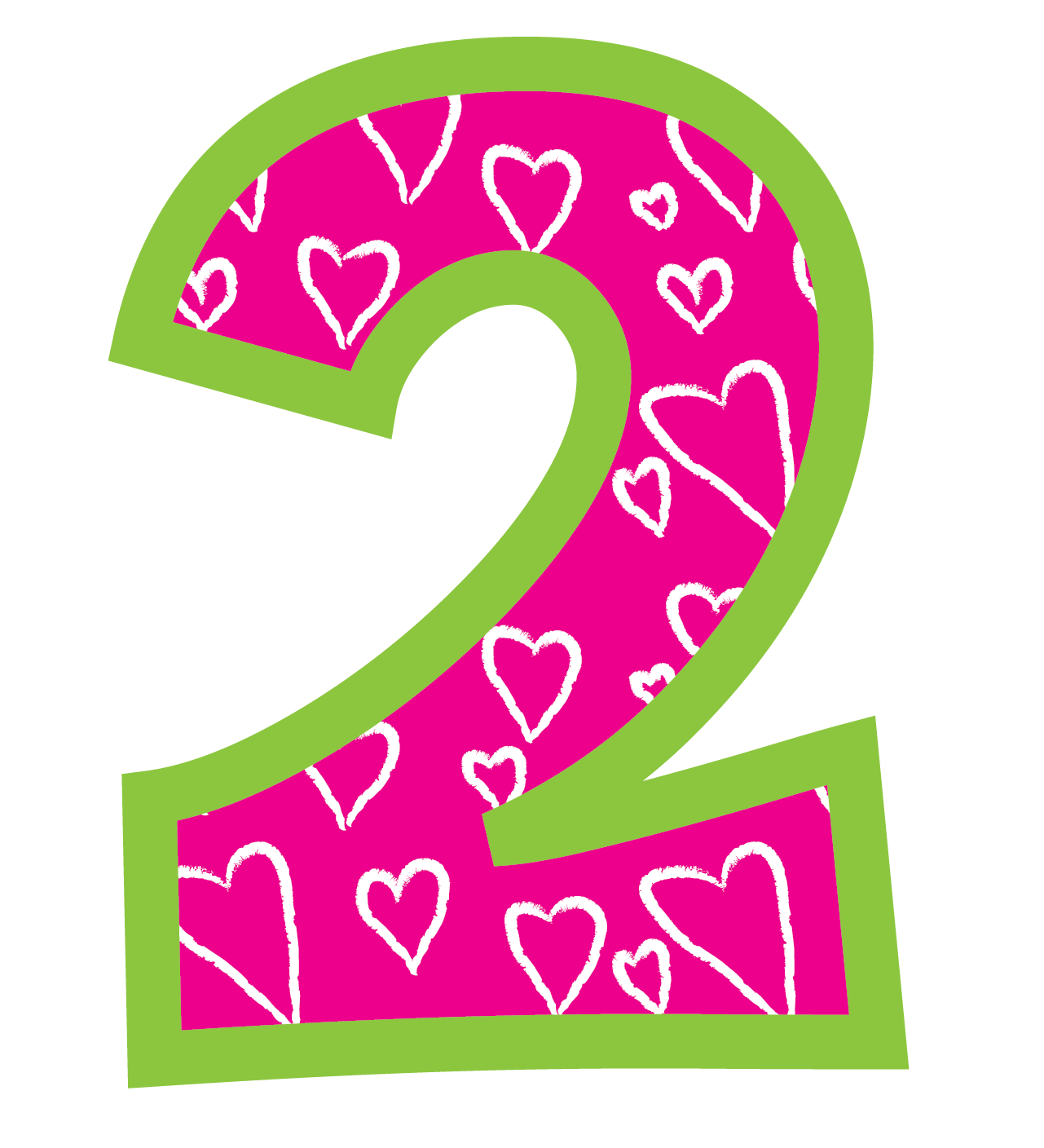 Pink number 2 png. Click the picture to
