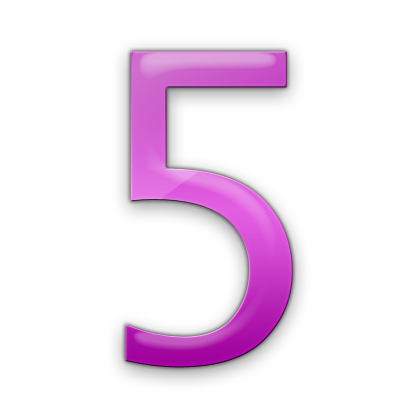 Pink number 5 png. Jelly icon alphanumeric