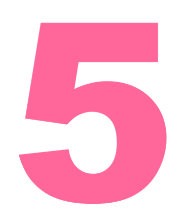 pink number 5 png
