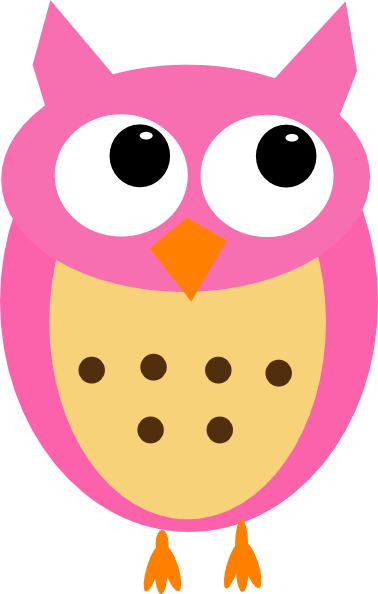 Pink owl png. No branch clip art