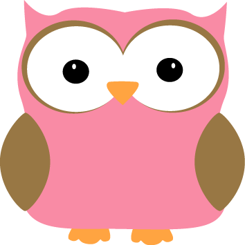 Pink owl png. Cute with bows clipart