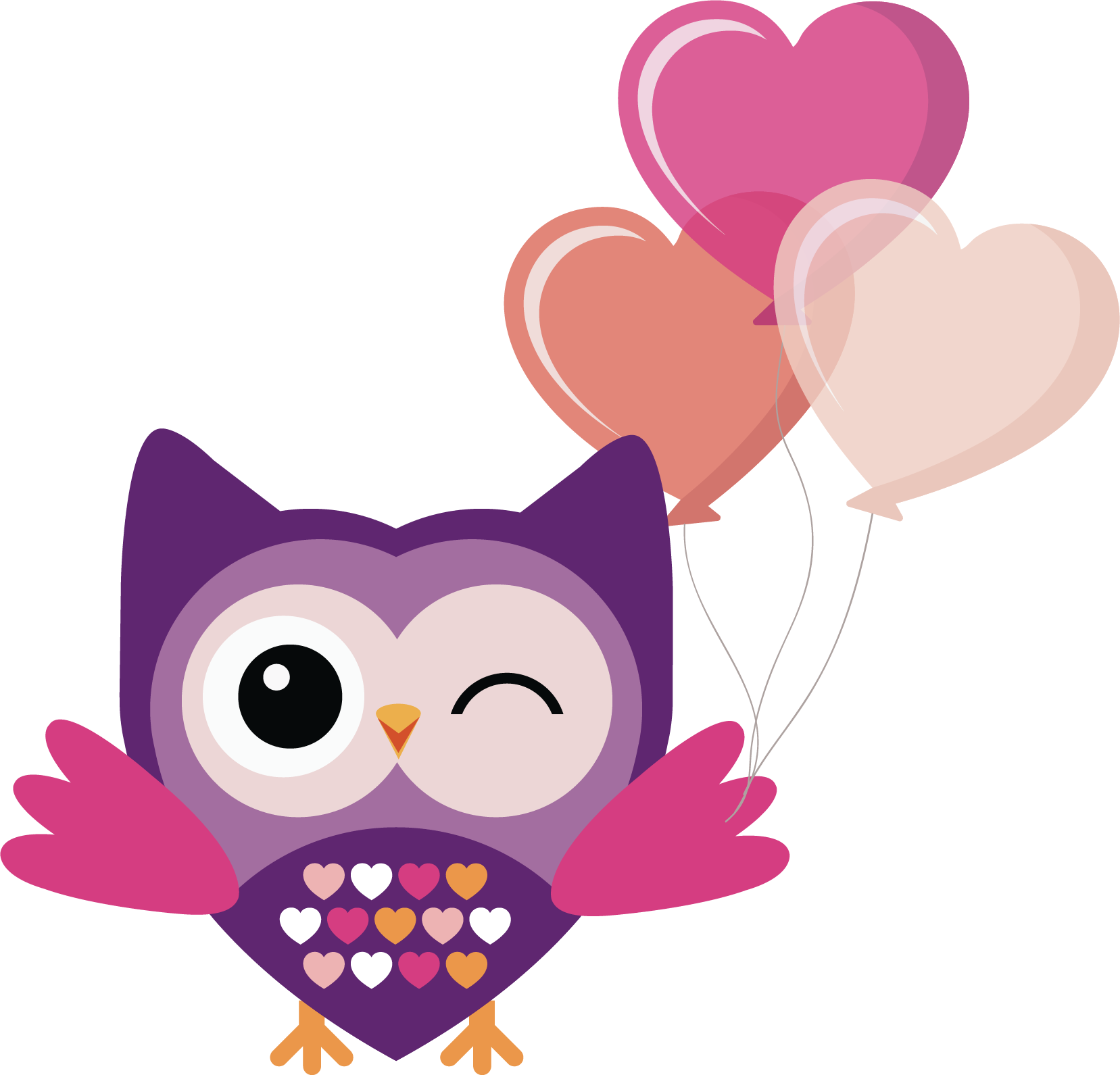 Pink owl png. Transparent free images only