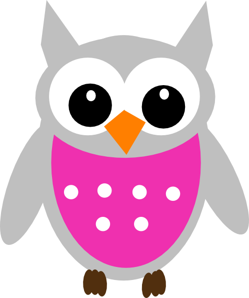 Pink owl png. Clip art at clker
