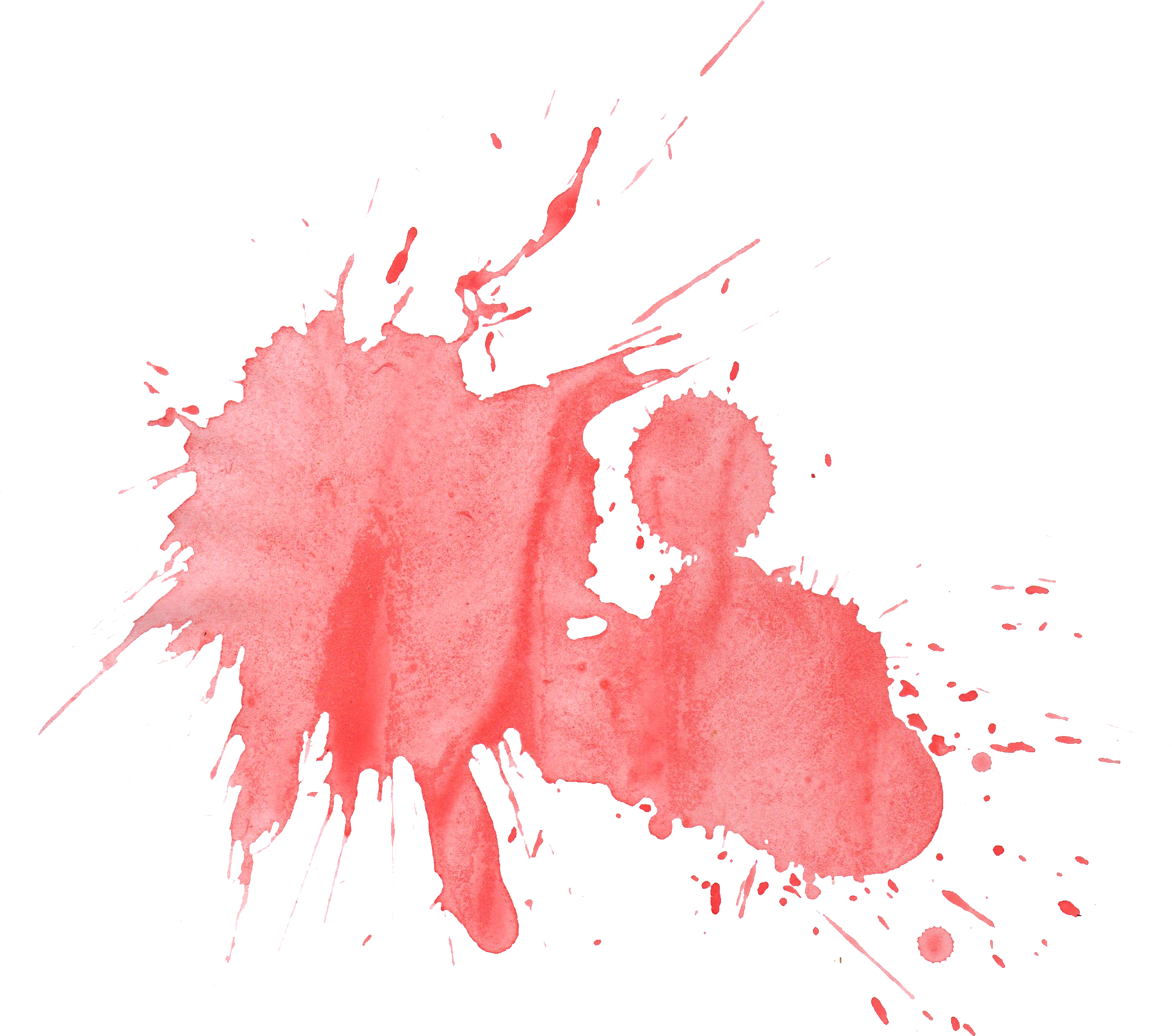 Watercolor paint splatter png. Red transparent onlygfx