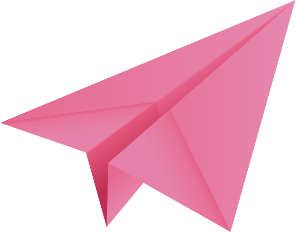 Pink paper png. Plane aeroplane vector icon