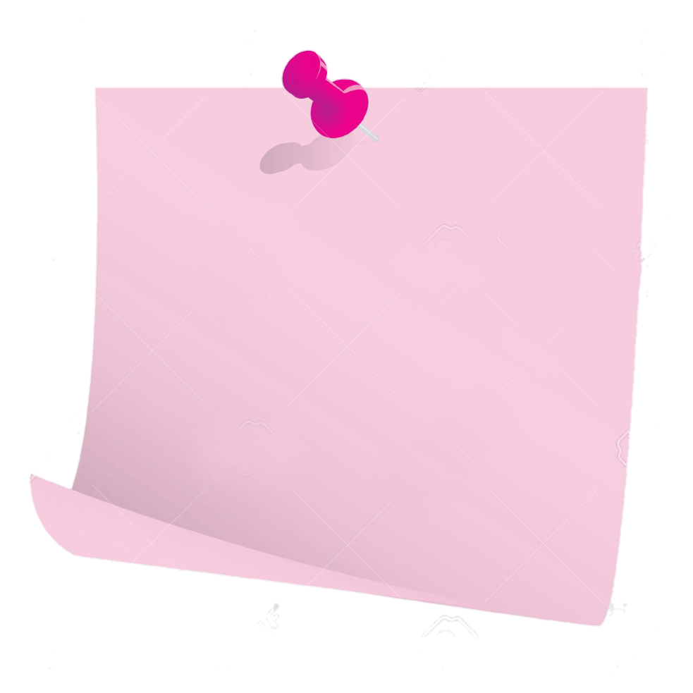 Pink paper png. Post postit it office
