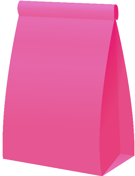Pink paper png. Bag vector icon svg