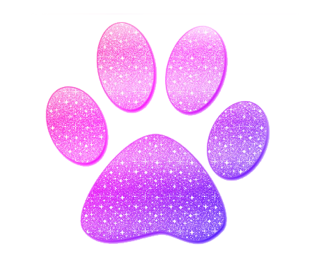 Pink paw print png. Glitter by catgotswagg on