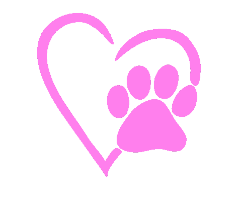 Pink paw print png. Heart decal wicked whiskerz