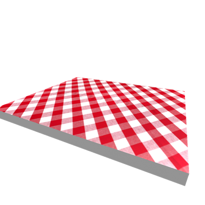 Red and white picnic blanket png