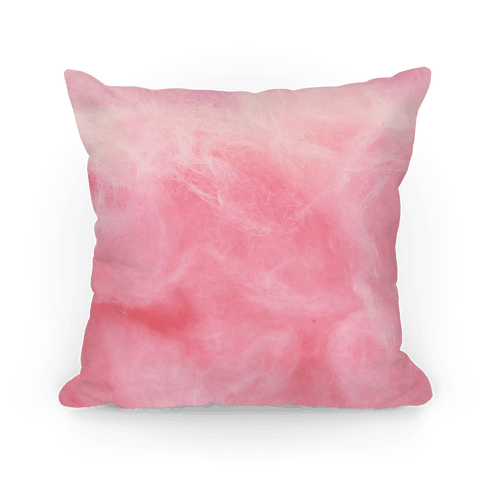 Pink pillow png. Cotton candy throw lookhuman