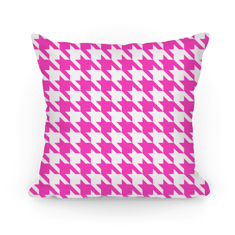 Pink pillow png. Houndstooth throw lookhuman