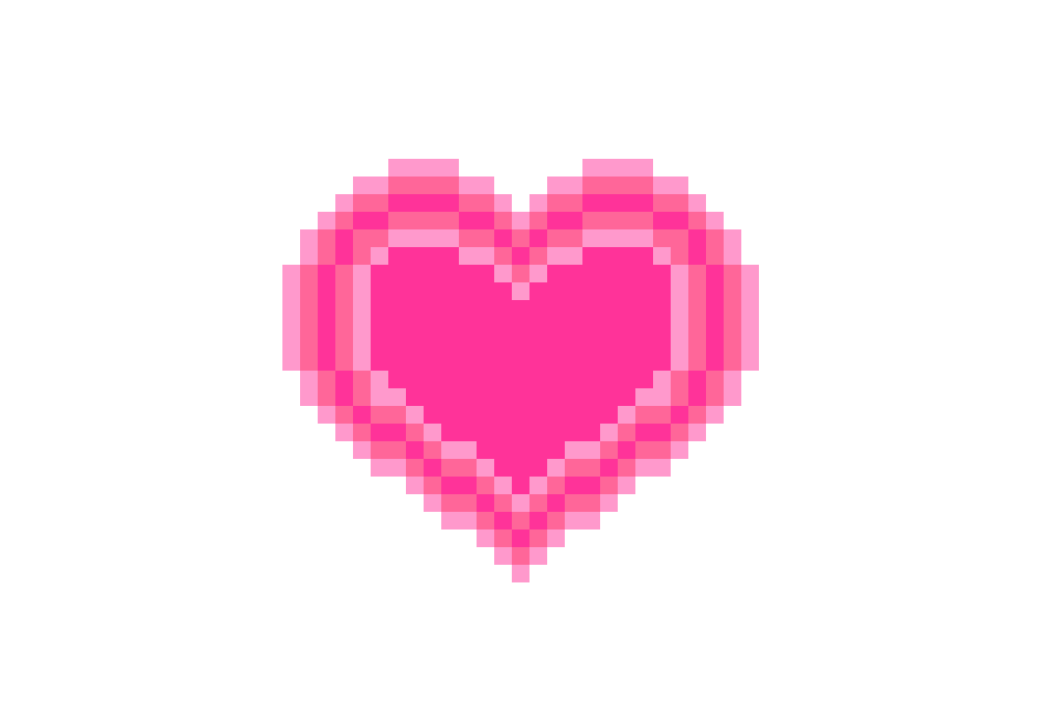 Pink pixel heart png. For valentine s day