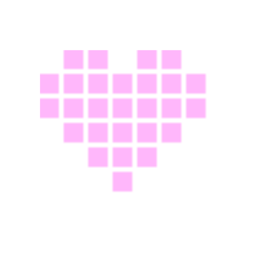 Pink pixel heart png. P n g s