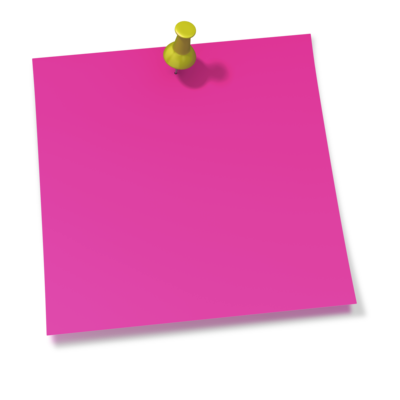 Pins vector thumbtack. Pink sticky note transparent