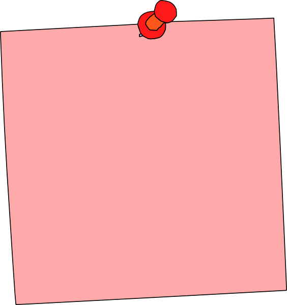 Pink post it note png. Sticky pad clip art