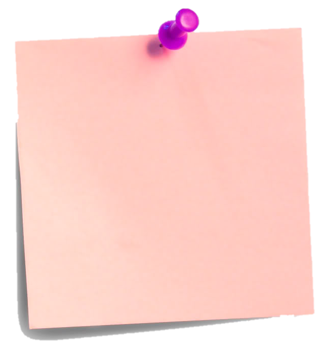 Pink post it note png. Postit paper office